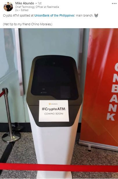 A Major Philippine Bank Launched Crypto ATMs and it May Fuel Massive Adoption
