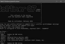 New lolMiner 0.7 alpha5 AMD GPU Miner With NiceHash BEAM Support