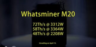 48 THS, 58 THS and 72 THS MicroBT Whatsminer M20 Bitcoin ASIC Miner Up for Pre-Orders