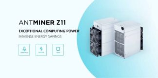 Bitmain Antminer Z11, a New More Powerful Equihash ASIC Miner