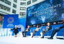 International Monetary Fund Managing Director Christine Lagarde along with Jeremy Allaire, Benoit Coeure, Patrick Njoroge and Sarah Youngwood talk about Money and Payments in the Digital Age at the IMF Headquarters during the 2019 IMF/World Bank Spring Meetings on April 10, 2019 in Washington, D.C. IMF Staff Photograph/Stephen Jaffe