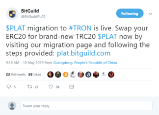 DLT Gaming Company BitGuild Ditches Ethereum, Chooses Tron Network