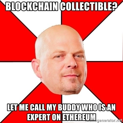 Rick from Pawn Stars will lose business as blockchain collectibles grow in popularity.