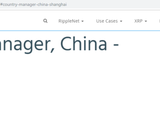 Ripple Launches New Branch in Shanghai, Hiring Country Manager