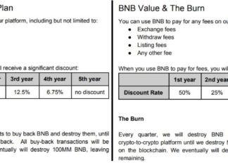 Binance's older white paper version vs. updated version