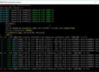 miniZ v1.3n3 Multi-Equihash Nvidia CUDA Miner with BEAM Support